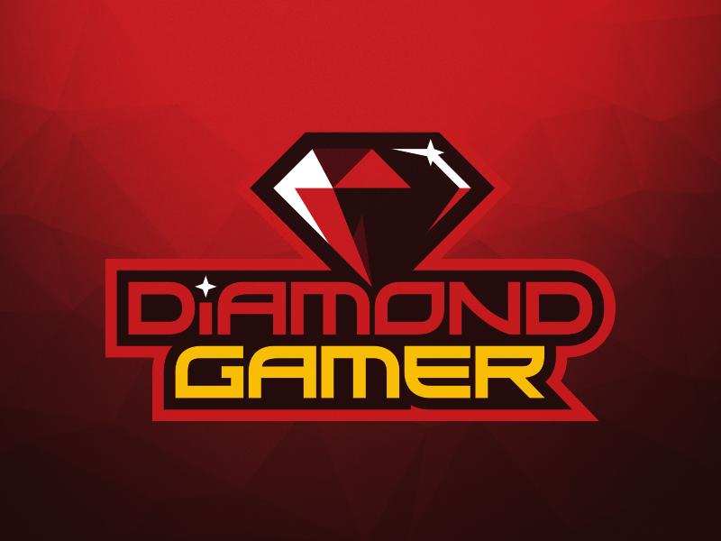 Diamond Gamer Logo twitch streaming illustration gamer vector sports red diamond streamer logo gaming branding design branding logo design logo