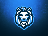 Snow Lion Mascot Logo