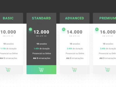 Comparative price table interface design ui price list table price