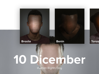 10 Dicember – Landing Page onlus brand visual human rights day landing page ui