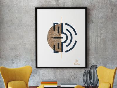 Dorotea - Poster tribute calvino city brand logo swiss digital graphic poster ui