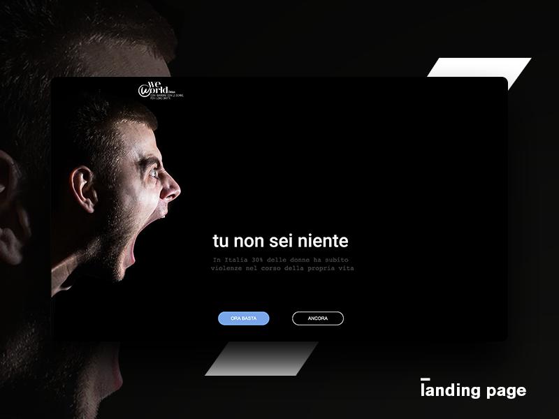 Campaign - domestic violence ux ui web page landing campaign violence