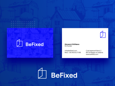 BeFixed - Business Card branding logo minimal business card fixed window