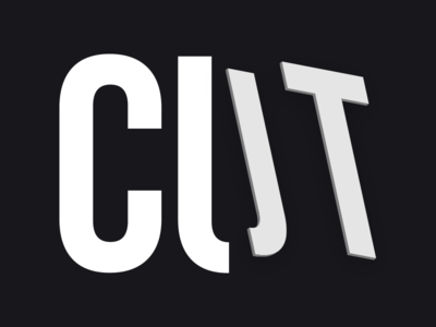 Cut experiment typedesign type typography