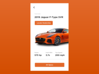 Daily UI - Jaguar F Type SVR