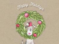 Walks and Wags Christmas Card 2015