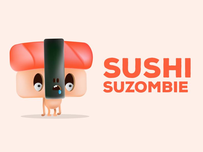 Sushi Suzombie concept adobe illustrator charachters zombie food sushi graphic  design design illustration character animation character creation character concept characer