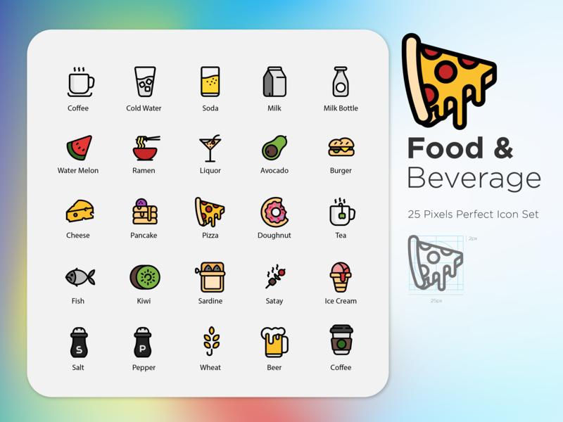 Food & Beverage button vector ui stroke outline noodles illustration icons set icons8 icons icon hot dog graphic design food flat fast food digital art design color burger