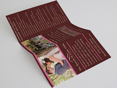 Tralh   wedding trifold  front