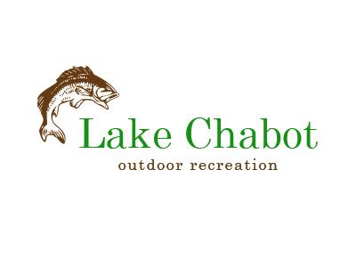 Lake Chabot Logo Concept fishing lake outdoors logo