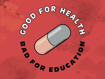 AKIRA Fan Art - Good For Health logo design illustration