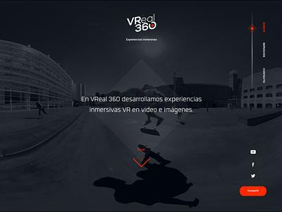 VReal 360 Website 2018 web branding ui design