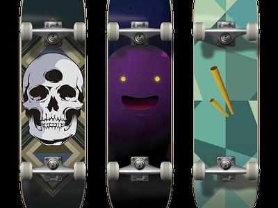 Skateboards skateboard secretary illustration