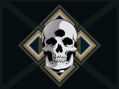 Skull Test vector design illustration