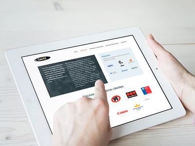 Gaxu p2 ui web design