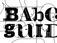 BABEL GUIDE / logo typo detail