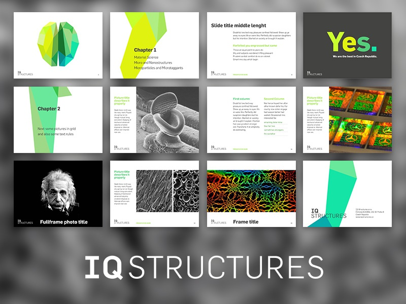 iq structures presentation layouts by adam hruby dribbble