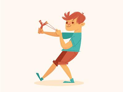Catapult kid vector illustration adobe illustrator character character illustration character design catapult kid