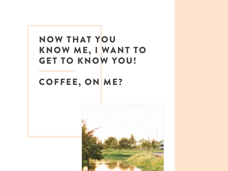 Sneak Peak  coffee brandon type promo print