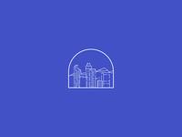 Mountain city illustration