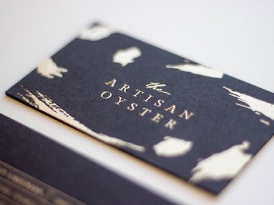 Artisan Oyster Business Cards logo design brand identity brand design logo branding cards business card print print design