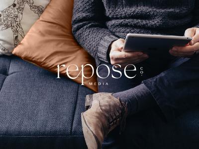 Repose Co. Media Branding // Primary Logo brand typography design brand identity design brand identity logo design concept brand studio branding design brand concept logo design logo branding