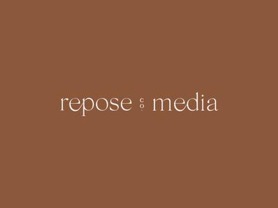 Repose Co. Media Branding // Secondary Logo logo designer brand designer brand identity typographic logo type logo typography logo design logo brand branding