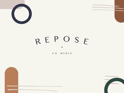 Repose Co. Media Branding // Secondary Logo & Pattern design brand studio pattern design pattern type type logo typography logo design brand designer brand design brand branding logo
