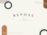 Repose Co. Media Branding // Secondary Logo & Pattern