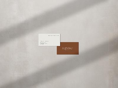 Repose Co. Media Branding // Print logo 3d branding brand design logo mark logo card print business card print design