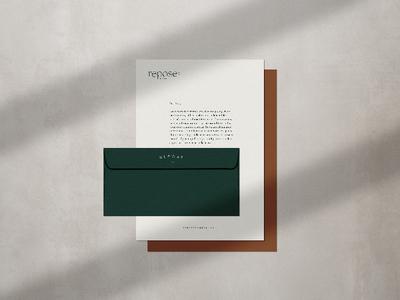 Repose Co. Media Branding // Print brand design branding logo design logo print design print letterhead design letterhead