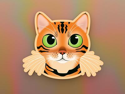 Bengal Sticker illustration mascot sticker cat bengal