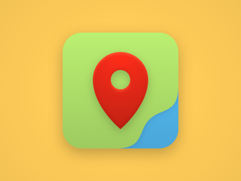Maps icon water land terrain pin map maps icon theme android