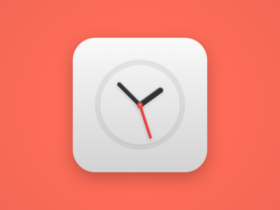 Clock icon needle hand seconds minutes hours time clock icon theme android