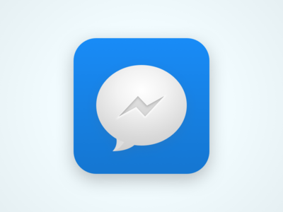 Messenger icon bubble bolt facebook chat messenger messages icon theme android