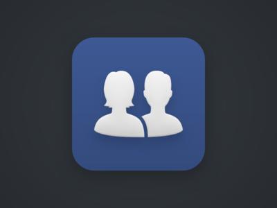 Facebook icon social silhouette avatar facebook icon theme android