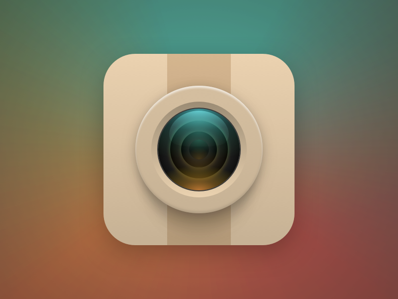 Instagram icon social instagram gradient reflection photos lens camera icon theme android