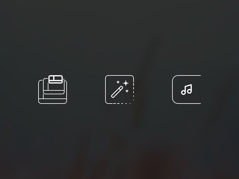 Spotify mini   features icons