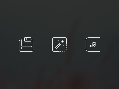 Spotify Mini – Feature Icons music note notification magic wand shrink windows icons features