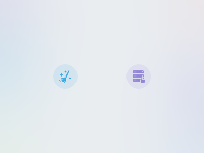 Codename Chrímata Landing Page Features duster lockup servers broom icons