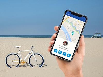 Weser-Radweg-App enterprise ux bremen rad bike map white simple clean deutschland app entwicklung mobile uiux ux ui 28apps entwicklung design ios app