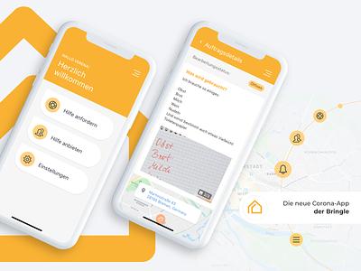 Die neue Corona-App der Bringle deutschland bremen 28apps software gmbh 28apps ux ui mobile design ios app