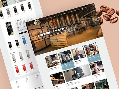 Azul coffee website germany web design webentwicklung softwareentwicklung entwicklung coffeeshop ux ui webdevelopment coffee design website deutschland bremen 28apps software gmbh 28apps