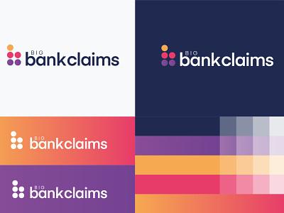Big Bank Claims Logo bank social media social web identity mockup website web design logo design