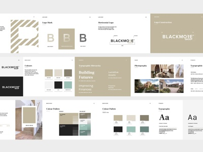 Blackmore Group Brand Book identity branding identity brand book branding brand design