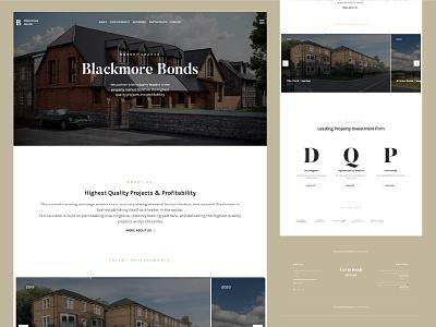 Blackmore Bonds Website bonds smooth parralax website design and development developer website builder website design website