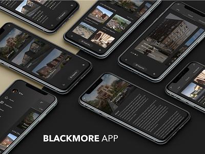 Blackmore App property developer adobe xd adobexd xd design iphone application app design app
