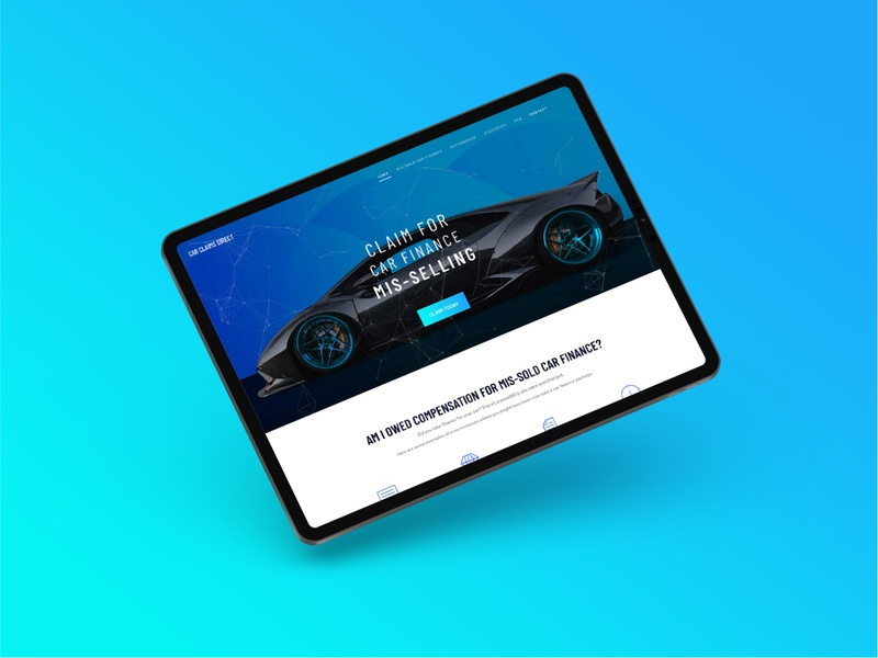 Car Claims Direct Website mockup web web design website branding identity logo design