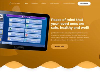 grandCARE Website web developer developer web web design website design