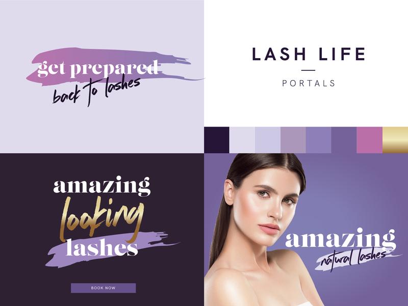 Lash Life - Portals Brand Concept salon lashes brand design brand concept branding identity logo design